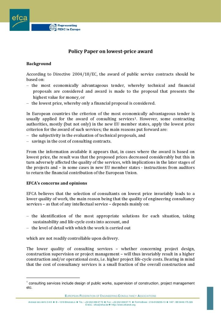 thumbnail of efca-policy-on-lowest-price-award-10-2010